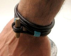 bracelet leather wood