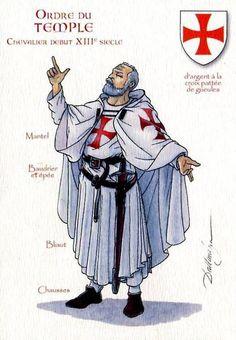 """Ordre du Temple: Chevalier debut XIII ͤ Siecle"" Patrick Dallanegra"