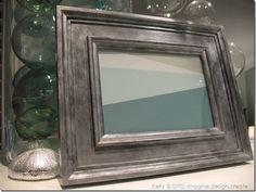 Faux zinc frame with paint chip art
