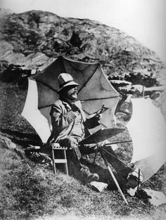 John Singer Sargent painting in Simplon Pass in the Alps around 1909 to 1911. (Courtesy Museum of Fine Arts, Boston)
