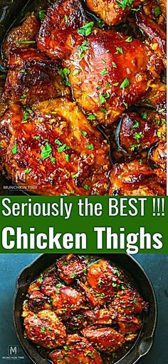 Honey Soy Chicken – is one of the easiest and delicious boneless chicken thighs recipes you will ever make! Tender chicken thighs baked in yummy honey sauce will steal the show and wow your family and guests! Boneless Chicken Thighs Crockpot, Garlic Chicken Thighs Recipe, Chicken Thighs Dinner, Honey Garlic Chicken Thighs, Baked Boneless Chicken Thighs, Chicken Thights Recipes, Chicken Thigh Recipes Oven, Baked Chicken Recipes, Oven Chicken