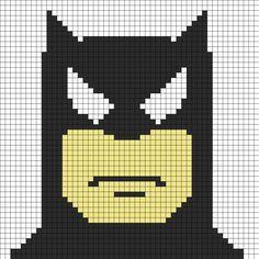 batman face perler bead pattern