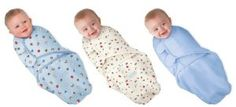 3 pack package of swaddling blankets