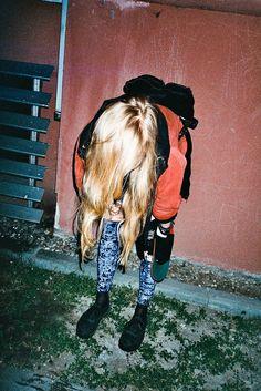Grunge tumblr girl hair
