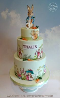 Beatrix Potter inspired celebration cake - For all your cake decorating supplies, please visit craftcompany.co.uk