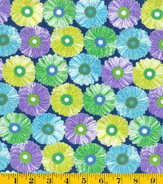 Made in America Cotton Fabric-Flower Heads