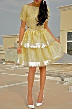 I call this lemon meringue because it's so delicious! Razan Al Azzouni FW 2012 on theoverdressed.com