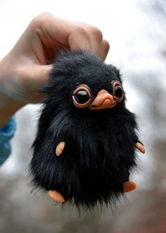 """when I purchased my first Niffler, I ignored what everyone said, """"They aren't easy to care for, they will steal anything they see,"""" but when I bought him I learned that they were soooo right! Cute Fantasy Creatures, Cute Creatures, Magical Creatures, Artwork Fantasy, Fantastic Beasts And Where, Cute Baby Animals, Animal Drawings, Cute Art, Art Dolls"""