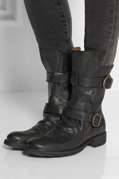 8f3646208477 Fiorentini   Baker Stil, Biker-stiefel, Schwarzes Leder, Designerschuhe,  Christian Louboutin