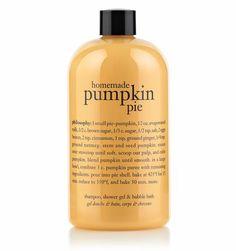 homemade pumpkin pie | shampoo, shower gel & bubble bath | philosophy fall treats  Just got this today! LOVE IT!  10/19/12