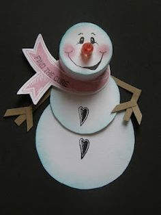 tealight snowman ornament | ... : Always Remember Snowman Ornament/Gift Tag using tealight for head