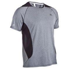 Camiseta manga corta de running hombre Kalenji Eliofeel gris
