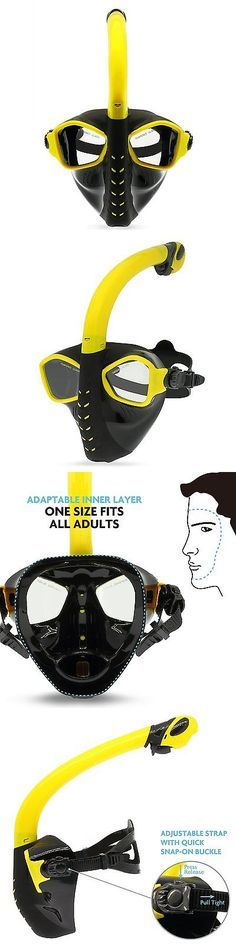 Masks 71161: Picador Scuba Snorkel Mask Full-Face Free Breathing Adjustable Diving Mask For -> BUY IT NOW ONLY: $38.05 on eBay!
