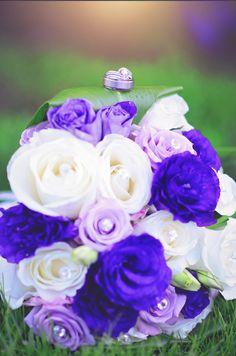 wedding bouquet; wedding rings; 85mm Nikon; Oregon photographer; purple white flowers; wedding day; wedding photography Purple And White Flowers, Wedding Day, Wedding Rings, Bouquet Wedding, Nikon, Oregon, Wedding Photography, Rose, Plants