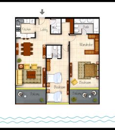 Colored House Floor Plans kwp) colored plan | cad drafting services - colored plan | pinterest