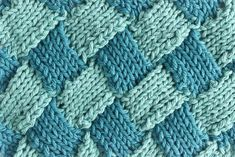 Basket Loop Stitch Knitting Pattern Knitting Projects, Knitting Patterns, Knitting Tutorials, Knitted Fabric, Knit Crochet, Learn How To Knit, Basket Weaving, Projects To Try, Diy Crafts