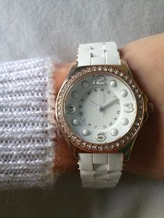 White and Gold Marc Jacobs Watch