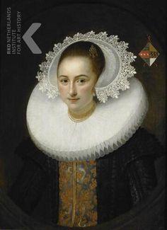 toegeschreven aan Salomon Mesdach, Portret van Maria van Roubergen (1600-1662), 1626 gedateerd RKD Explore: https://rkd.nl/explore/images/126927