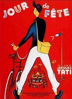 Monsieur Jacques Tati dans 'Un jour de fête'