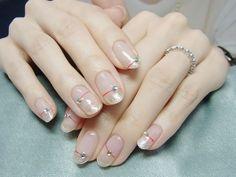 Embellished translucent nails