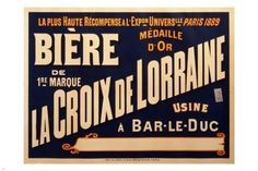 vintage french beer advertising poster 24X36 RETRO SIGN COLLECTORS
