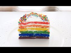 Торт Радужный / Rainbow Cake - YouTube