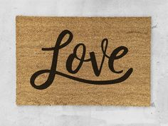 Love Door Mat - Midnight Confetti