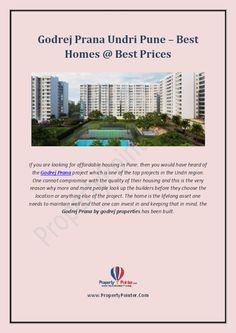 Godrej Prana Undri Pune -The best Homes at Best Prices