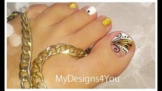 😍Golden Toenail Art Design | Дизайн ногтей Педикюр ♥ Toenail Art Designs, Golden Design, Nail Art Videos, Top Nail, Toe Nail Art, Women's Fashion Dresses, Pedicure, My Nails, Finger
