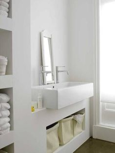 Badkamer meubel beton - badkamer meubel stuc - vakkenkast badkamer #home #decor