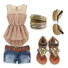 Summer outfit with pedal pusher jeans find more women fashion ideas on… Women, Men and Kids Outfit Ideas on our website at 7ootd.com #ootd #7ootd