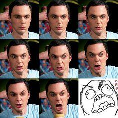 The many faces of Sheldon  - I LOVE JIM PARSONS