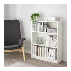 BILLY Bookcase - white - IKEA - low storage for living room in Washington house (add glass doors? Ikea Billy Bookcase White, Ikea Bookcase, Small Bookshelf, Billy Bookcases, Small White Bookcase, Short Bookshelf, Bedroom Bookcase, Etagere Bookcase, Libreria Billy Ikea