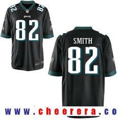 Men's Philadelphia Eagles #82 Torrey Smith Black Alternate Stitched NFL Nike Elite Jersey