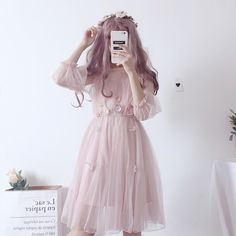 Korean Fashion Looks .Korean Fashion Looks Sexy Outfits, Dress Outfits, Fashion Dresses, Style Lolita, Lolita Mode, Gauze Dress, Tulle Dress, Pink Dress, Dress Black