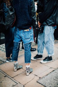 Denim Jeans_ double denim outfitting (bottom half only) || Saved by Gabby Fincham || LFW 16