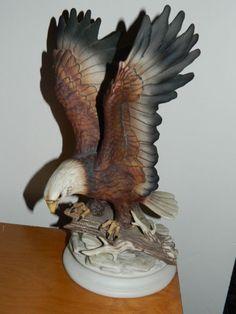 home interior retired figurines home interiors homco masterpiece porcelain bald eagle wild bird statue