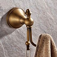 "Robe+Hook+Antique+Brass+Wall+Mounted+100+x+70mm+(3.93+x+2.75"")+Brass+Antique+–+AUD+$+30.25"