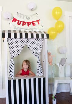 This would be so fun for the kids play room! Diy puppet theater | The Allison Show
