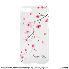 Watercolor Cherry Blossoms by LD Design Loft iPhone 8/7 Case