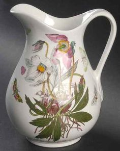 portmeirion botanic garden christmas rose 56 oz ewer pitcher 8916060 ebay