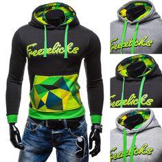 Supreme New  men's hoodie sweatshirt color matching letter printing denim mens suits hirt streetwear printed