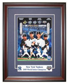 Framed 8x10 photo of the New York Yankees Core Four, Derek Jeter, Mariano Rivera, Andy Pettitte, And Jogre Posada