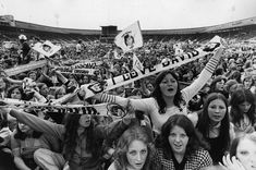 An audience of young pop fans at a David Cassidy concert at White City Stadium, west London. (Photo by Evening Standard/Getty Images) White City Stadium, Skip Beat, Star David, Partridge Family, David Cassidy, Street Photographers, West London, Film Camera, Every Girl