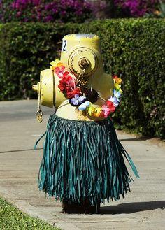 Hula hydrant in Maui