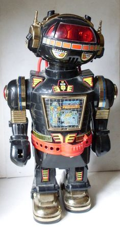 FANTASTIC ROBOT - battery-powered robot, walking with the wheels under the feet - Vintage Robots, Retro Robot, Vintage Toys, Vintage Metal, Metal Toys, Tin Toys, Cool Robots, Cool Toys, Space Warriors