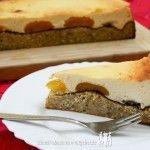 Vanille-Käsekuchen Low Carb mit Aprikosen - Cremiger Käsekuchen mit Aprikosen auf saftigem Vanille-Boden, herrlich leckeres Low Carb Rezept