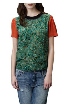 Uzma Bozai Peacock Green Zahara Top available now on LUX FIX
