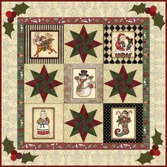 Here-He-Comes-QUILT-KIT-RJR-Fabric-Quilt-Pattern-Christmas-Santa-Snowman