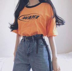 Shirt is 💕 asian style ropa juvenil femenina moda, ropa estilo vintage, mo Trend Fashion, Korean Fashion Trends, Korean Street Fashion, 90s Fashion, Fashion Looks, Fashion Outfits, Fashion Ideas, Korea Fashion, Fashion Stores